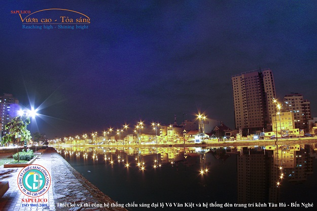 Decorative lighting improvement projects HCM City Water Environment
